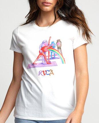 2 Matt Furie Rainbow Yoga - T-Shirt for Women White U3SSRMRVF0 RVCA