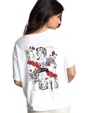 6 Lia Kantrowitz Good Vs. Evil - T-Shirt for Women White U3SSRORVF0 RVCA