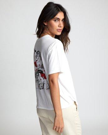 3 Lia Kantrowitz Good Vs. Evil - T-Shirt for Women White U3SSRORVF0 RVCA