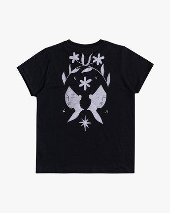 3 Johanna Olk Back Twin - T-Shirt for Women Black U3SSRURVF0 RVCA