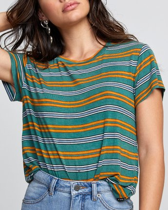 2 Stacey Rozich Recess 3 - Short Sleeve Top for Women Green U3TPRERVF0 RVCA