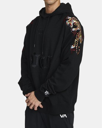 2 Tiger Krak - Hoodie for Men Black U4HOMBRVF0 RVCA