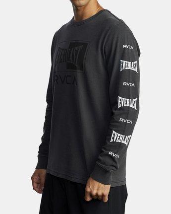 6 Everlast Box - Long Sleeve T-Shirt for Men Black U4LSEARVF0 RVCA