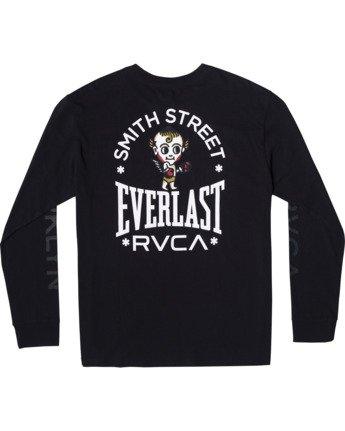 1 Everlast x Smith Street Big Angel - Long Sleeve T-Shirt for Men Black U4LSECRVF0 RVCA