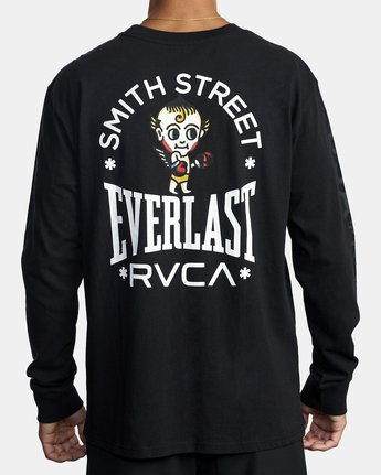 5 Everlast x Smith Street Big Angel - T-shirt manches longues pour Homme Noir U4LSECRVF0 RVCA