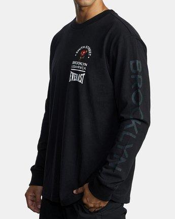 3 Everlast x Smith Street Big Angel - T-shirt manches longues pour Homme Noir U4LSECRVF0 RVCA