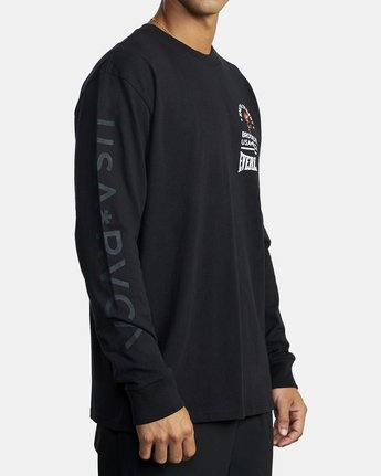 4 Everlast x Smith Street Big Angel - T-shirt manches longues pour Homme Noir U4LSECRVF0 RVCA