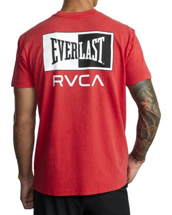 8 Everlast Stack - T-Shirt for Men Red U4SSEARVF0 RVCA