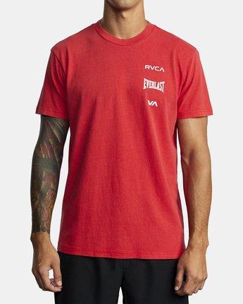 4 Everlast Stack - T-Shirt for Men Red U4SSEARVF0 RVCA