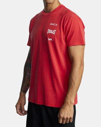 6 Everlast Stack - T-Shirt for Men Red U4SSEARVF0 RVCA