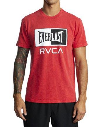 7 Everlast Box - T-Shirt for Men Red U4SSEBRVF0 RVCA
