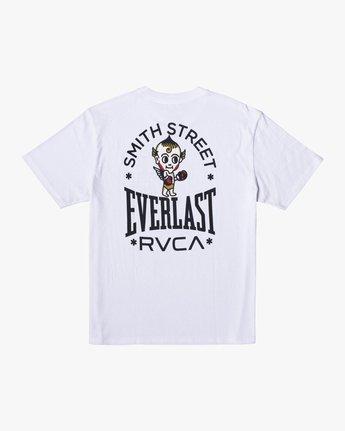 1 Everlast x Smith Street Big Angel - T-Shirt for Men White U4SSECRVF0 RVCA