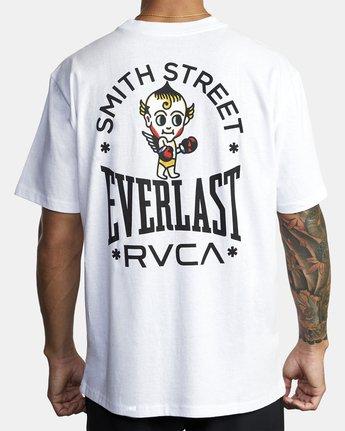 4 Everlast x Smith Street Big Angel - T-Shirt for Men White U4SSECRVF0 RVCA