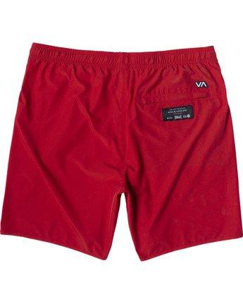 "1 Everlast Yogger IV 17"" - Workout Shorts for Men Red U4WKEARVF0 RVCA"