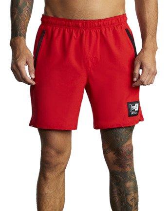 "10 Everlast Yogger IV 17"" - Workout Shorts for Men Red U4WKEARVF0 RVCA"