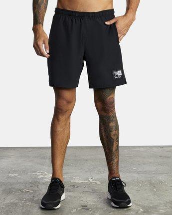 "2 Everlast Yogger IV 17"" - Workout Shorts for Men Black U4WKEARVF0 RVCA"