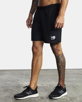 "4 Everlast Yogger IV 17"" - Workout Shorts for Men Black U4WKEARVF0 RVCA"