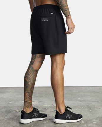 "6 Everlast Yogger IV 17"" - Workout Shorts for Men Black U4WKEARVF0 RVCA"