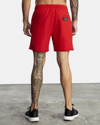 "5 Everlast Yogger IV 17"" - Workout Shorts for Men Red U4WKEARVF0 RVCA"