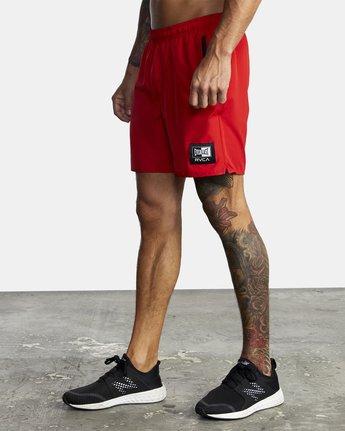 "6 Everlast Yogger IV 17"" - Workout Shorts for Men Red U4WKEARVF0 RVCA"