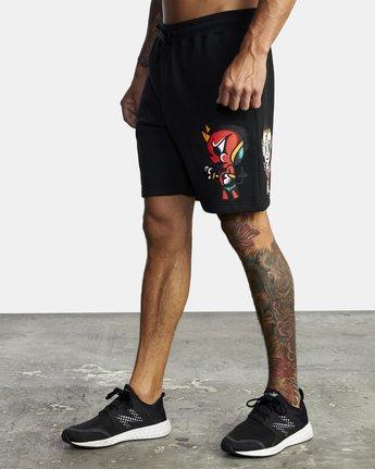 3 Everlast x Smith Street - Workout Shorts for Men Black U4WKECRVF0 RVCA