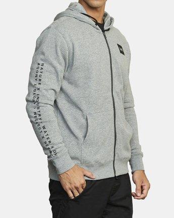 3 VA Sport Swift - Sweat à capuche pour Homme Gris U4ZHMARVF0 RVCA