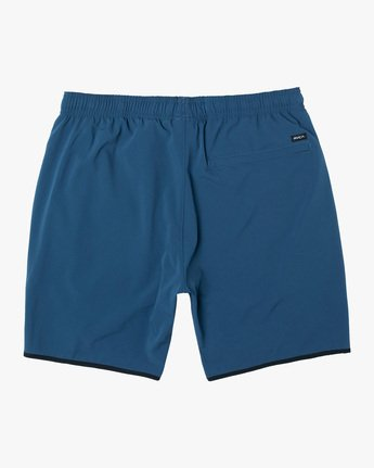 "1 YOGGER STRETCH ATHLETIC SHORTS 17"" Blue V201TRYS RVCA"