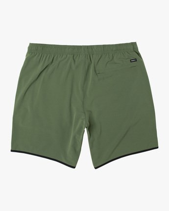 "1 YOGGER STRETCH ATHLETIC SHORTS 17"" Green V201TRYS RVCA"