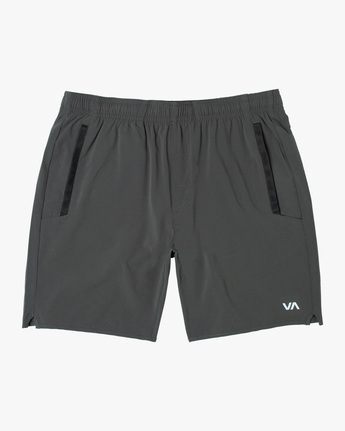 "0 YOGGER STRETCH ATHLETIC SHORTS 17"" Grey V201TRYS RVCA"