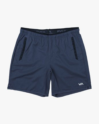 "0 Yogger Stretch 17"" Short Blue V201TRYS RVCA"