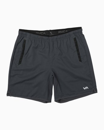 "2 YOGGER STRETCH ATHLETIC SHORTS 17"" Grey V201TRYS RVCA"