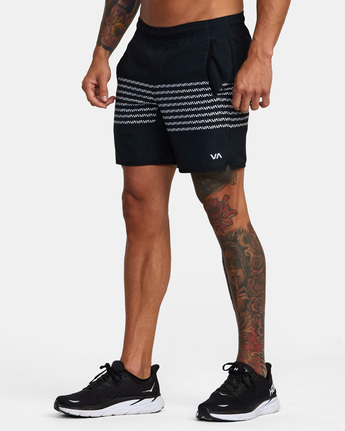 "5 YOGGER STRETCH ATHLETIC SHORTS 17"" Black V201TRYS RVCA"