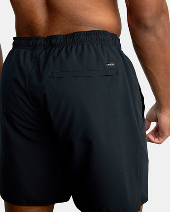 "15 YOGGER STRETCH ATHLETIC SHORTS 17"" Black V201TRYS RVCA"