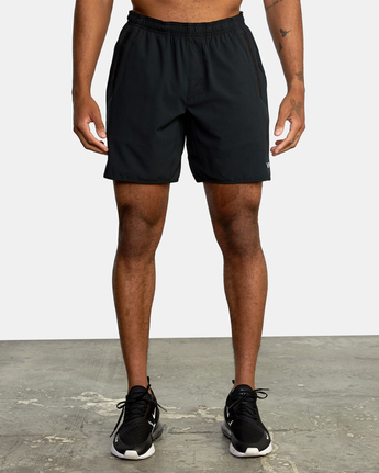 "8 YOGGER STRETCH recycled 17"" workout SHORT Black V201TRYS RVCA"