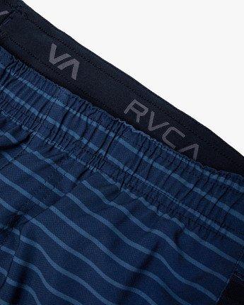 "14 YOGGER STRETCH ATHLETIC SHORTS 17"" Blue V201TRYS RVCA"