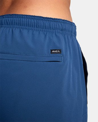 "10 YOGGER STRETCH ATHLETIC SHORTS 17"" Blue V201TRYS RVCA"