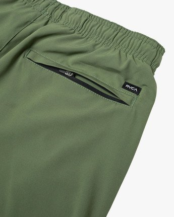 "4 YOGGER STRETCH ATHLETIC SHORTS 17"" Green V201TRYS RVCA"