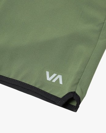 "5 YOGGER STRETCH ATHLETIC SHORTS 17"" Green V201TRYS RVCA"