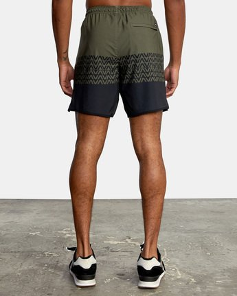 "1 YOGGER STRETCH ATHLETIC SHORTS 17"" Black V201TRYS RVCA"