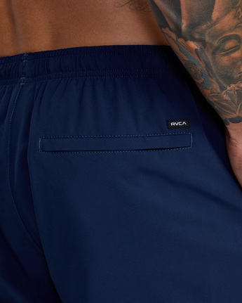 "15 YOGGER STRETCH ATHLETIC SHORTS 17"" Blue V201TRYS RVCA"
