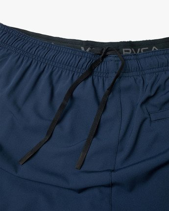 "17 YOGGER STRETCH ATHLETIC SHORTS 17"" Blue V201TRYS RVCA"