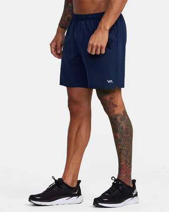 "8 YOGGER STRETCH ATHLETIC SHORTS 17"" Blue V201TRYS RVCA"