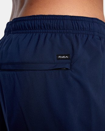 "13 YOGGER STRETCH ATHLETIC SHORTS 17"" Blue V201TRYS RVCA"