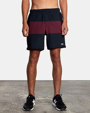 "2 YOGGER STRETCH ATHLETIC SHORTS 17"" Red V201TRYS RVCA"