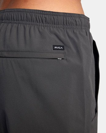 "17 YOGGER STRETCH ATHLETIC SHORTS 17"" Grey V201TRYS RVCA"