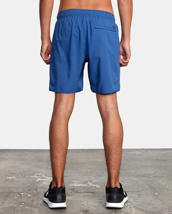 "3 YOGGER STRETCH ATHLETIC SHORTS 17"" Blue V201TRYS RVCA"
