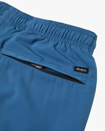 "4 YOGGER STRETCH ATHLETIC SHORTS 17"" Blue V201TRYS RVCA"