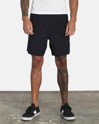"1 Yogger Stretch 17"" Short Black V201TRYS RVCA"