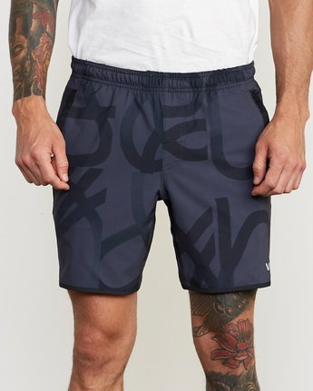 "7 Yogger Stretch 17"" Short Grey V201TRYS RVCA"