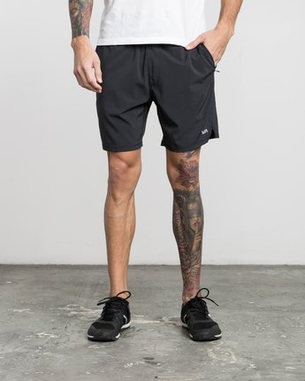 "1 ATG 17"" Short Black V202PRAT RVCA"